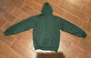 Vtg PLUMA Sweat jacket with Hoodie Mens Zip Up Size Medium Zip Up Lining Green