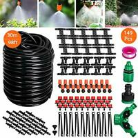 "Tencoz Drip Irrigation Kit, 30m 1/4"" Micro Garden Irrigation DIY System Garden"