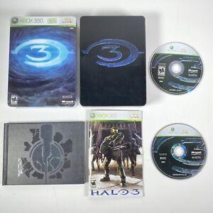 Microsoft Xbox 360 Halo 3 Video Game 2007 Steelbook Tested CIB Complete Manual