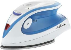 Sunbeam Hot-2-Trot Compact Non-Stick Soleplate Travel Iron, Light Blue, 800W