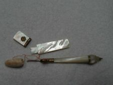 More details for antique mother of pearl tambour  needlecase and french neendle case