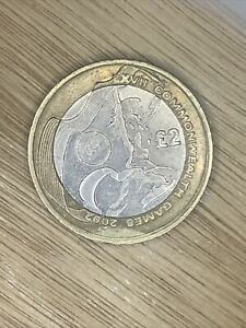 2002 Commonwealth Games £2 Coin - WALES Rare £2 Two Pound Coin.Circulated.