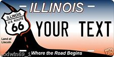 ILLINOIS Route 66 License Plate Personalized Auto Car Custom VEHICLE OR MOPED