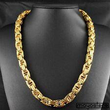 60cm / φ14mm MACIZO BIZANTINO Collar Cadena Big Collar acero oro