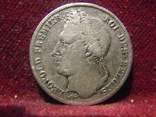 Monnaie Belgique Léopold 1er 1/2franc 1844