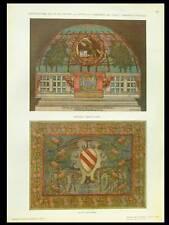DECOR DE CHAPELLE -1910- PHOTOLITHOGRAPHIE, GUIDO MARUSSIG, ROVIGO