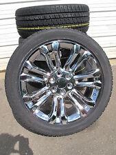 "22"" New GMC Sierra Yukon Chrome Rims 2854522 Bridgestone Tires 5666"