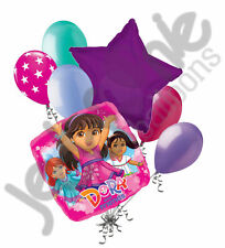 7 pc Dora and Friends Into the City Balloon Bouquet Happy Birthday Nickelodeon