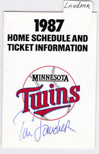 1987 Tim Laudner Autograph Minnesota Twins Home Schedule Super America AUTO