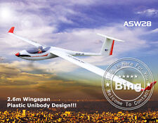 Volantex 2.6M ASW28 Unibody Glider RC Model Airplane PNP W/ 30A ESC Motor Servo