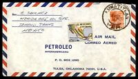 MEXICO MINATITLAN VERACRUZ  JANUARY 13 1967 AIR MAIL COVER TO TULSA OK USA