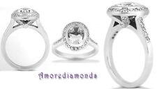 Platinum Oval Not Enhanced SI1 Diamond Engagement Rings
