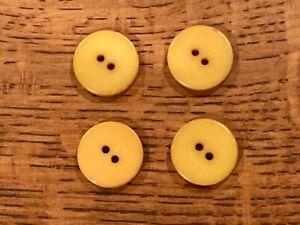 Vintage Bakelite Butterscotch Button (four)