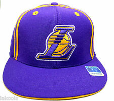 NEW LOS ANGELES LICENSED LAKERS REEBOK FITTED HAT PURPLE SIZE 6 7/8