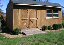 Custom Design Shed Plans, 12x20 Gable Backyard, Complete Shed Plans Package