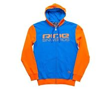 2014 NWT RIDE LOGO FULL ZIP HOODIE JACKET XL $65 orange blue snowboarding