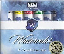 Watercolor Paints ~ 6 Tube Paint Set ~ Free Shipping!