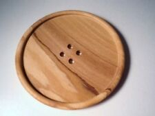 W1640-77mm- 1 HUGE EXTRA LARGE REAL NATURAL OLIVE WOOD 4 HOLE ITALIAN BUTTON