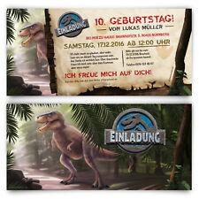 Einladungskarten zum Kinder Geburtstag - Dinosaurier Park T-Rex Dino Einladung