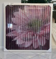 AGAMOGRAPH 3D PICTURE OF FLOWER. CHANGES AS YOU WALK PAST. NEW. RRP $398.00