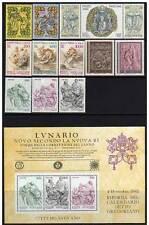 Vaticano 1982 annata completa (13 valori + 1 Bf) MNH