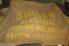 Vintage Union Canvas SINGER #4 SEWING MACHINE Brown Canvas Cover 20X24X26