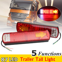 2pc 87 LED Rear Tail Light Indicator Lamp 5 Function Truck Lorry Trailer  >