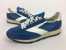 BROOKS Classic Vintage Women's Running Shoes Blue White Size 8.5 Split Leathers