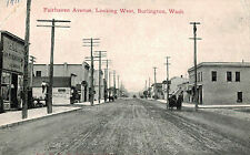 Burlington,WA.Fairhaven Avenue Looking W.Horse Drawn Wagons,Skagit Co.Used,1911