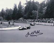 JACK BRABHAM HAND SIGNED 8x10 PHOTO+COA           LEGENDARY FORMULA ONE DRIVER