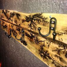 Wall Mounted Lichtenberg Epoxy Coat / Towel Rack Hanger Hook - Custom Sizes