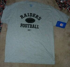 NEW NFL Oakland Raiders Football T Shirt Men - Oversized -XL X-Large NEW NWT