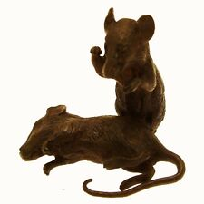 Mice Ornaments Miniature Bronzes Sculptures Hand Cast Bronzes Mice Or Rats
