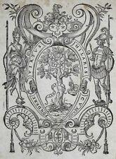 LYON MARQUE TYPOGRAPHIQUE Printer's Mark PIERRE LANDRY 1586 Bois gravé Woodcut