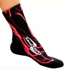 Sand Socks Classic High Top Neoprene Athletic Socks - Red Lightning XL