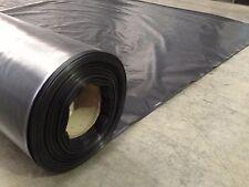2m x 50 Builders Film Poly Black Plastic Sheeting 200 micron Heavy Duty Impact