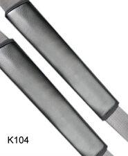 2 x Gurtschoner Gurtpolster Sicherheitsgurt Schulterpolster Kunstleder Schwarz
