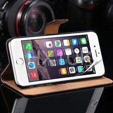 Cover custodia in vera pelle per vari modelli Apple Iphone + pellicola schermo