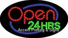 Open 24 Hrs Flashing & Animated Real Led Sign