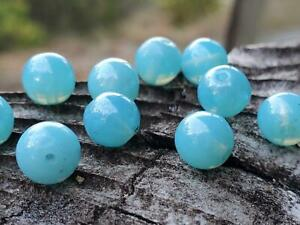 Beautiful Vintage German Opalescent Blue Luster Glass Beads DIY Jewelry Making