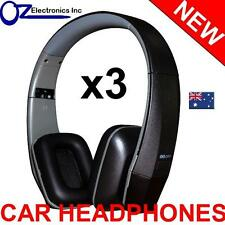 3x UNIVERSAL IR Infrared Headphones compatible with CLARION IR700 CAR DVD player
