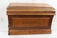 Antique Domestic Sewing Machine Coffin Cover Wood Primitive Repurpose Restore