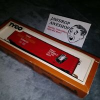 Vintage HO TYCO 50' Box Car Mail Pouch 374A Tobacco Model Train Car EXCELLENT