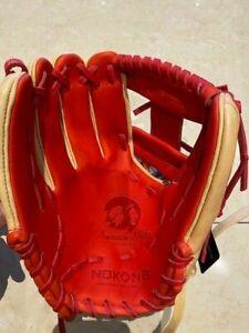 "Nokona Baseball Glove SKN Series SKN-6-RD /R Red 11.5"" Infield I-Web LHT NWT"