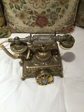Vintage Ornate French Rotary Phone Victorian Scene Courting Couple Telephone