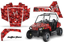 AMR Racing Polaris RZR 170 Decal Graphic Kit UTV Accessories All Years BFLY SLVR