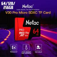 64/128/256GB Netac P500 Pro V30 UHS-I U3 100MB/s Micro SD  TF Memory