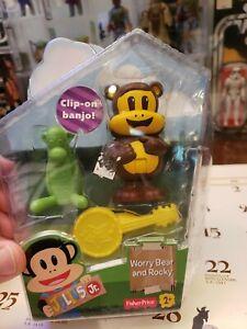"Julius Jr. 3"" Worry Bear And Rocky Figure Set Doll Playset Toy Nick Jr **NEW**"