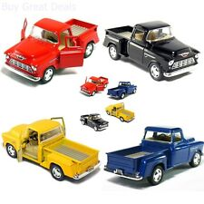 Cars Stepside Pickup Truck 1/32 scale Classic Car Model Toys Set Of 4 New