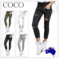 Fashion Women Casual Skinny Stretch Slim Fit Pencil Pants Trousers Leggings New